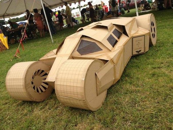 Модели машин из картона