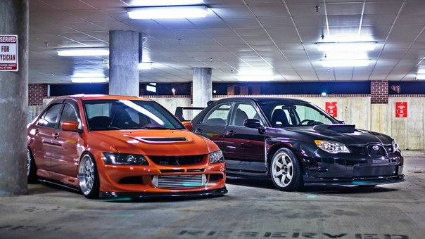 Mitsubishi Lancer Evolution vs. Subaru Impreza STI