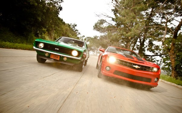 Shelby, Challenger and Camaro – OLD vs NEW